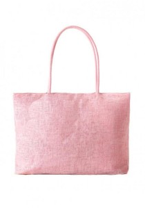 LinkedinLove Back To Nature Woven Straw Tote Bag (Pink)