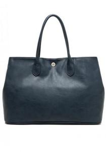 LinkedinLove Vintage Chic Large Tote Bag (Navy)