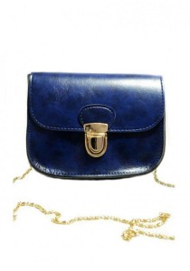 LinkedinLove Collection Casual Vintage Sling Bag with Chain (Navy)