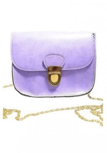LinkedinLove Collection Casual Vintage Sling Bag with Chain (Lilac)