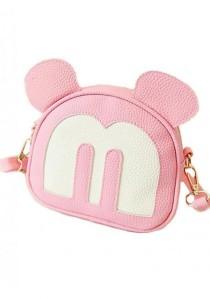 LinkedinLove Mickey Face Cute Sling Bag (Pink)