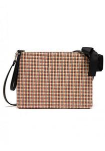LinkedinLove Woven Stylish Clutch and Shoulder Bag (Orange)
