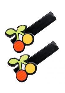 LinkedinLove Cherries Hair Clip Set (Zest Orange)
