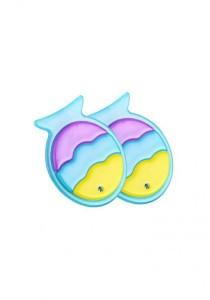 LinkedinLove Happy Fish Girls Hair Clip Set (Blue)
