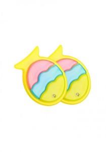 LinkedinLove Happy Fish Girls Hair Clip Set (Yellow)