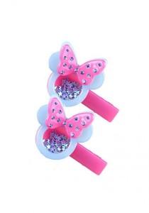 LinkedinLove Twinkle Minnie Girls Hair Clip Set (Blue)