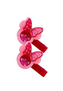 LinkedinLove Twinkle Minnie Girls Hair Clip Set (Red)