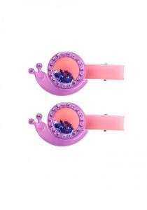 LinkedinLove Twinkle Snail Girls Hair Clip Set (Purple)