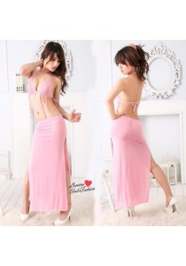 Loveena European Long Dress Sexy Lingerie Nightwear L1043