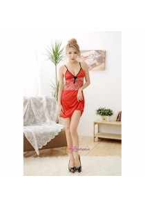 Loveena Satin Lace Lingerie Nightwear Dress L1046