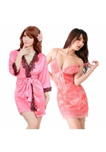 Combo Set Loveena Robe + Lingerie Dress L1094-SPIL3030