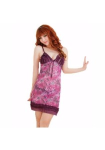 Loveena Feminine Purple Sexy Lingerie Nightwear Sleepwear L3032