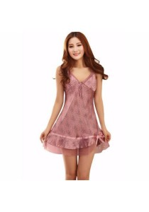 Loveena Strappy Nightie Dress Sleepwear Lingerie