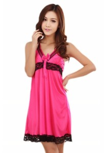 Loveena Ice Silk Lace Nightie Sleepwear Lingerie Dress L7055