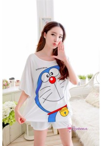 Loveena Milky Silk Doraemon Sleepwear Pyjamas Pants P0208