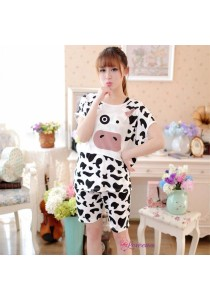 Loveena Milky Silk Moo Moo Sleepwear Pyjamas with Short Pants P0211