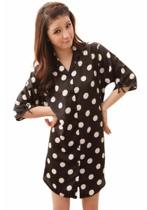 Loveena Podka Dot Sleepwear Pyjamas Boyfriend Shirt P0302