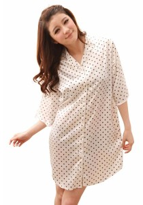 Loveena Boyfriend Shirt Tiny Podka Dot Sleepwear Pyjamas P0304