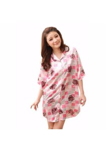 Loveena Sweet Pink Sleepwear Pyjamas Boyfriend Shirt P0307