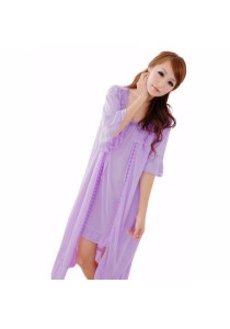 Loveena Silky 2-pieces Robe Sexy Nightwear Pyjamas P0308