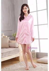 Loveena Long Sleeve Boyfriend Shirt Sleepwear Pyjamas P0317-P
