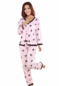 Loveena Comfy Printed 3-pieces Sleepwear Nightwear Pyjamas P0411