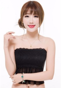 Loveena Black Lace Chiffon Tube Padded Bra TB9053