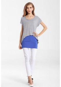 LadiesRoom Fashion 2 Layer Sleeve Blouse (Grey)