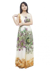 LadiesRoom Floral Evening Gown (Yellow)