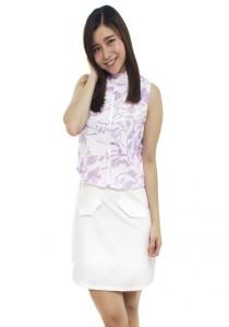 LadiesRoom Purple A-Line Dress (Purple)