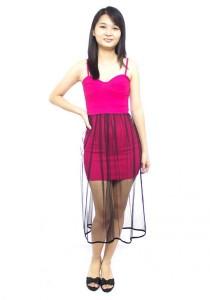 LadiesRoom Sexy Spaghetti Fitted Dress (Pink) XS/S