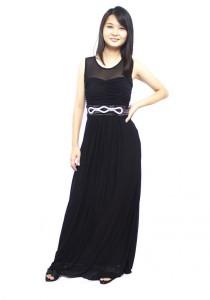 LadiesRoom Elegant Dinner Gown (Black) M/L