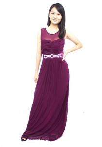 LadiesRoom Elegant Dinner Gown (Purple) M/L