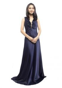 LadiesRoom Elegant Satin Evening Gown (Blue)
