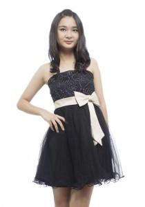 LadiesRoom Black Lace Strapless Dress (Black) S/M