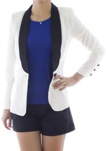 LadiesRoom Formal White Coat (White)