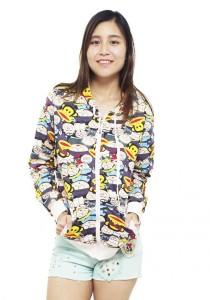 LadiesRoom Printed Jacket with Hoodie LRJ2519A (Multicolors) S/M