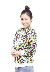 LadiesRoom Printed Jacket with Hoodie LRJ2519B (Multicolors) S/M