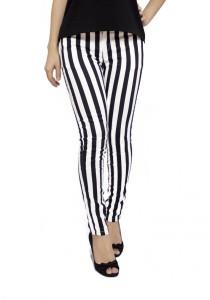 LadiesRoom Line Skinny Pants (Black)