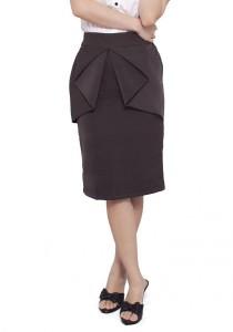 LadiesRoom OL Peplum Skirt (Dark Grey) S/M