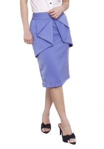 LadiesRoom OL Peplum Skirt (Sky Blue) S/M