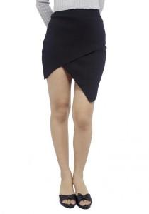 LadiesRoom Fashion Knit Skirt (Black)