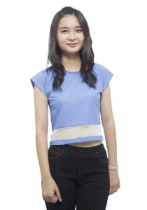 LadiesRoom Plain Short Blouse (Blue)