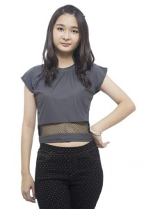 LadiesRoom Plain Short Blouse (Grey)