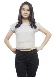 LadiesRoom Plain Short Blouse (White)