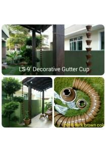 LS 9' Gutter Cup - 2016 Dark Brown Colour - Garden Decoration