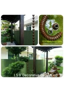 LS 9' Gutter Cup - 2018 Pigment Brown Colour - Garden Decoration