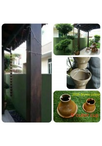 LS 9' Gutter Cup - 2038 Brown Colour - Garden Decoration