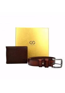 Country Roots Men's CA9427GS Genuine Leather Wallet and Belt Gift Set