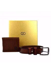 Country Roots Men's CZ9423GS Genuine Leather Wallet and Belt Gift Set